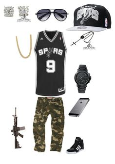 """San Antonio SPURS GAME DAY GEAR"" by quicksilv3r ❤ liked on Polyvore featuring adidas, HUGO, STONE ISLAND, Mitchell & Ness, Superdry, women's clothing, women, female, woman and misses"