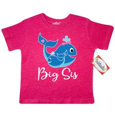 inktastic Lil Sis Cute Bluebirds Toddler T-Shirt