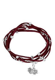 Legacy University of South Carolina Rhinestone Suede Strap Bracelet #belk #accessories