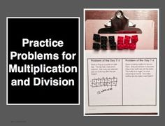 Practice Problems for Multiplication and Division: Nine Problem Types (90 problems total) to practice multiplication and division concepts.  (CCSS 3.0A.A.3) Introduce multiplication and division with hands on materials, and then show the value of multiplication and division as a shortcut. Differentiate with a pre/post test option as well. $