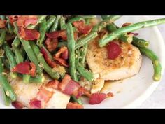 This quick and easy chicken dish is cooked in a white wine sauce with string beans and bacon, all in one skillet. You can modify this basic recipe using any veggies you like!