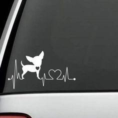 Chihuahua HeartBeat Dog Decal