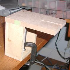 Make your own Bench Pin or simply make the base and attach a purchased bench pin.