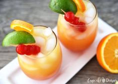 Shake things up with a Mai Tai Mocktail that the whole family can enjoy! This drink pairs great with Orange Chicken from the P. Mocktail Drinks, Cocktails, Easy Mocktails, Weekly Meal Plan Family, Peach Margarita, Turmeric Smoothie, Mai Tai, Great Appetizers, Love Eat