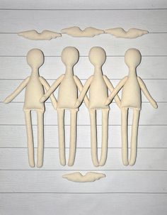 """12 Blank doll body-14"""",blank rag doll, rag doll body,the body of the doll made…"""