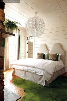 green and white bedroom [ Find. Shop. Discover. www.specialteesboutique.com ]