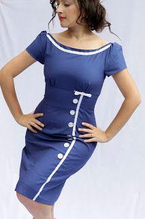 Julia Bobbin, Butterick 5603, vintage dress, Mad Men