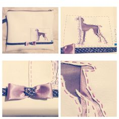 Clutch bag with hungarian vizsla silhouette by markellagi☺️