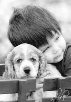 a boy and his cocker spaniel Photo Zen, Photo D Art, I Love Dogs, Puppy Love, Animals For Kids, Cute Animals, Animals Dog, Mans Best Friend, Best Friends