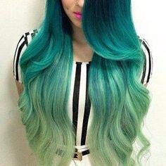 Wow! Who wants green hair?!