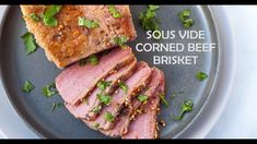 This Sous Vide Corned Beef Brisket makes a slicable and tender corned beef that is perfect for reuben sandwiches or to serve with cabbage and potatoes. Cooking Corned Beef, Corned Beef Brisket, Corned Beef Recipes, Healthy Dinner Recipes, Low Carb Recipes, Cooking Recipes, Sous Vide Roast Beef, Instant Pot Corned Beef Recipe, Sous Vide Cooking