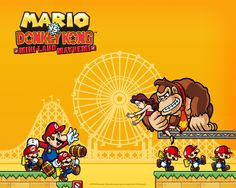 """Another example of the """"retro-style"""" resurgence of the damsel in distress trope in modern video games. This image is from the 2010 game Mario vs Donkey Kong: Mini-Land Mayhem for the Nintendo DS. It is the 4th games in the verses series. #damselindistress #retrosexsim #helphelpsaveme"""