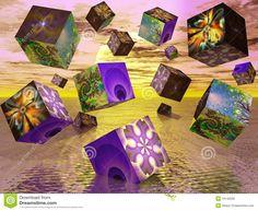 Fractal Cubes Stock Photo - Image: 19140500