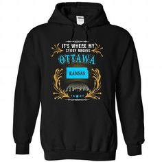 Ottawa - Kansas is Where Your Story Begins 2103 - #gift for girls #grandparent gift. CHECK PRICE => https://www.sunfrog.com/States/Ottawa--Kansas-is-Where-Your-Story-Begins-2103-5483-Black-31711947-Hoodie.html?68278