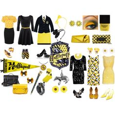 """Hufflepuff"" by violetpretty on Polyvore"