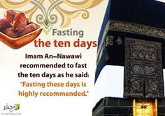 Fast on the first 10 days of Dhul Hijjah