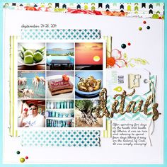 Hi all! Nancy Burke here to share with you a page using the September Skies collection by Heidi...