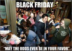 Black Friday madness #hungergames #blackfriday