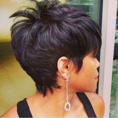 My new hairdo Short Sassy Hair, Cute Hairstyles For Short Hair, Short Hair Cuts For Women, Curly Hair Styles, Natural Hair Styles, Short Cuts, Hallie Berry Short Hair, Short Haircuts, Hair Affair