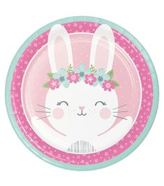 Birthday Bunny Tableware - Birthday Bunny Party Supplies for Girls Bunny Birthday, Pink Birthday, Wholesale Party Supplies, Bunny Party, Party Plates, Cute Bunny, Baby Design, Easter Crafts, Cute Drawings