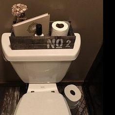 #BathroomTray Half Bathroom Decor, Bathroom Sets, Silver Bathroom, Bathroom Tray, Best Bathroom Designs, Bathroom Design Small, Tongue And Groove, Water Closet Decor, Rustic Wood Box