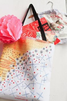 drop cloth: Embroidery BAGS!