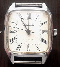 "Vintage ""Raketa"" mechanical watch 2614.N Russia SU №773021  USSR #Raketa #Casual"