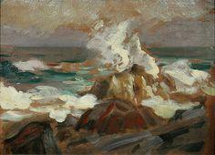 Flying spray or Crashing surf, Robert Henri. American Ashcan School Painter (1865-1929)
