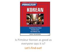 Pimsleur Korean Presentation