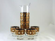 Mid Century Culver Ltd Barware Vintage by WhatnotsAndFancifuls