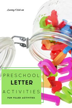 Looking for a few preschool letter activities that are fun filled for your kids? How about a messy sensory bin or a few alphabet puzzles? Try one of these to help your child with letter recognition. Sensory Activities Toddlers, Preschool Letters, Preschool Learning Activities, Alphabet Activities, Abc Learning, Alphabet Crafts, Free Preschool, Toddler Learning, Sensory Bins