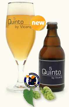 The new beer added today: Vicaris Quinto 5 A hazy yellow, colored beer, with a white head. The aroma of fruits like citrus, hop noets and a little honey. The taste is dry pleasant, grassy with hop bitters. The aftertaste is fresh sweet with nice bitter tones. Available at http://store.belgianshop.com/special-beers/1373-vicaris-quinto.html