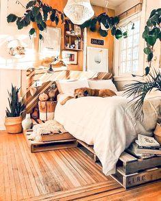Cozy Bedroom, Home Decor Bedroom, Bedroom Wall, Diy Room Decor, Bedroom Ideas, Scandinavian Bedroom, Bedroom Lamps, Wall Lamps, Bedroom Lighting