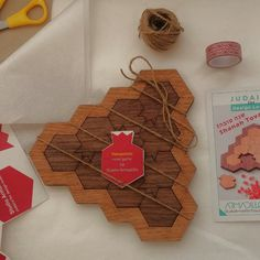 Gift idea for Rosh Hashana, original wood puzzle, challenging mind game Wood Games, Challenging Puzzles, Rosh Hashanah, Armadillo, Yellow And Brown, Surprise Gifts, Pomegranate, Design Art, Honey