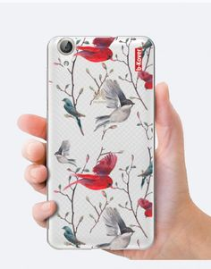 funda-movil-red-bird Phone Cases, Watercolor, Bird, Collection, See Through, Mobile Cases, Pen And Wash, Watercolor Painting, Birds