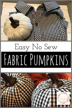 no sew shirts Change dollar tree faux pumpkins from plain to stylish with an old shirt. This easy DIY fall craft for no sew fabric pumpkins is really simple. Pumpkin Crafts, Fall Crafts, Halloween Crafts, Christmas Crafts, Christmas Fabric, Fabric Pumpkins No Sew, Halloween Stoff, Pumpkin Decorating, Fall Decorating