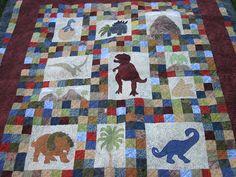 Dinosaur Quilt PATTERN   Dinosaurs on Chloe Lane  by pixieharmony, $5.95