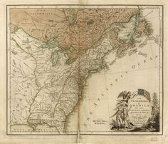 A map of the United States after the Peace of 1783