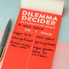 Dilemma Decider Notepad