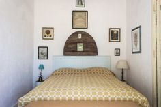 Yellow Bed in Double Superior Room at Uva do Monte in Portugal