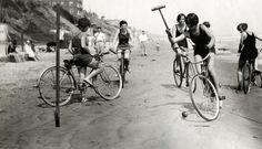 Bike polo, Long Beach, Californie, USA, 1926.