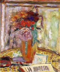"""artist-bonnard: """"The Vase of flowers via Pierre Bonnard Size: 39x32 cm"""""""