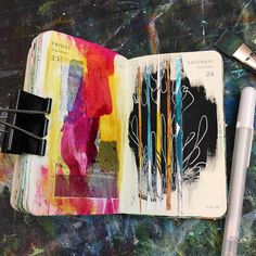 Today is just expressive play with bits on my art table. ✨ Day 268 of 366 Art Journal Pages, Art Journals, Journal Ideas, Visual Journals, Sketchbook Inspiration, Art Sketchbook, Expressive Art, Visual Diary, Art Techniques