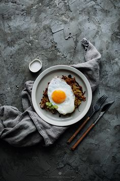 Potato Pancake with Fried Egg Recipe