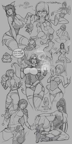 random sketches by Boris-Dyatlov.deviantart.com on @DeviantArt