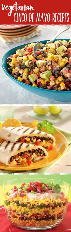 Planning a meatless Cinco de Mayo? These easy and delicious vegetarian dishes are sure to be a crowd-pleaser for your dinner party.