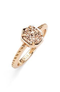 Currently crushing on this sparkling rose gold drusy ring.