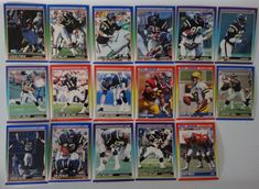 1990 Score San Diego Chargers Team Set of 17 Football Cards #SanDiegoChargers