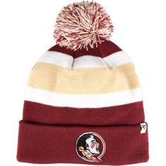 '47 Florida State University Breakaway Cuffed Knit Cap (Red Dark, Size One Size) - NCAA Licensed Product, NCAA Men's Caps at Academy Sports
