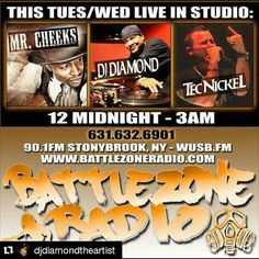 Repost @djdiamondtheartist  TONight aka #Turntable #Turntablist Tuesday at Midnight EST This Happens!!! Myself @Tecnickel & @MrCheekslbmafia #Lostboyz  Live on 90.1fm #BattleZoneRadio Tune in and experience #RealHipHop also streaming live on WUSB.FM ... YUP! #TeamDiamond #DJDIAMONDTHEARTIST #instagood #dj #djs Rap #BattleDjs #ClubDjs #Funk #BreakBeats #Hiphop #Jazz  #Talnts #HouseMusic #Reggae  #RocknRoll  #PopMusic Seratodj  #VinylRecords  #haveuheardpromo #Brooklyn #NYC #party #turntablism…